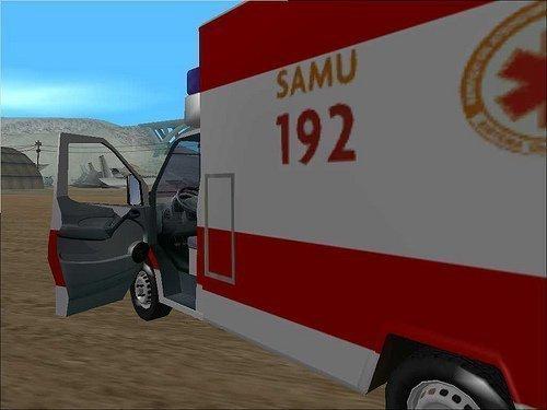 ambulancia do samu para gta san andreas pc