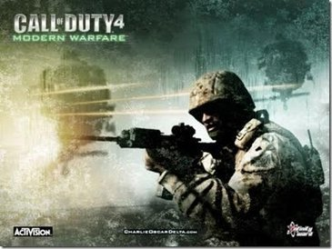 Imagem do game Call of Duty 4 Modern Warfare