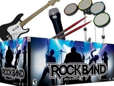 Imagem da Guitarra e bateria do Rock Band 2